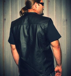 5-BALL LEATHERS' JAK SHIRT SLEEVELESS