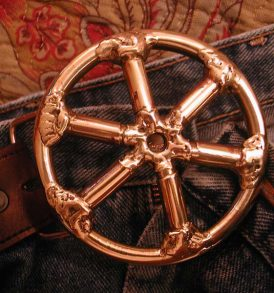Spoke Wheel Belt Buckle