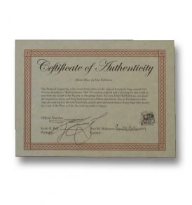 Motor Blues Certificate