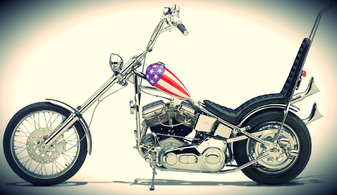 authentic 'Captain America' chopper used in the film Easy Rider