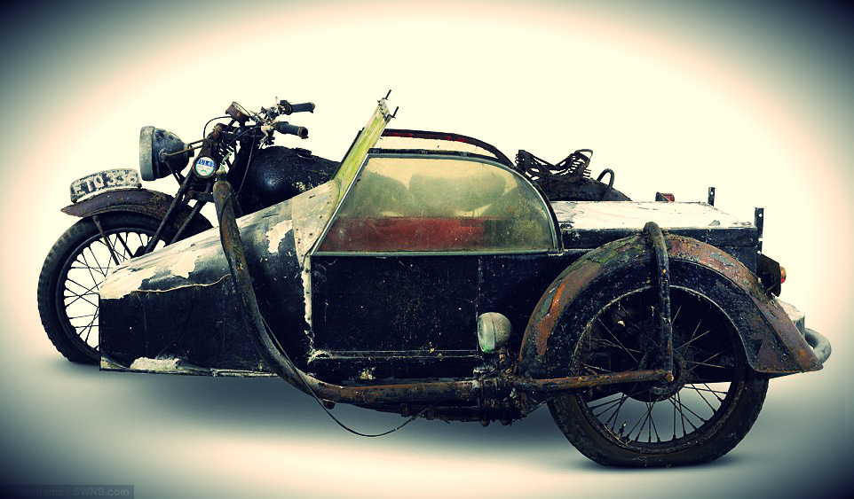 1938 Brough Superior 982cc SS80 Project with a petrol tube sidecar