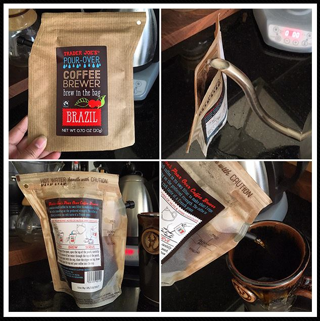 Trader Joe's pour over coffee